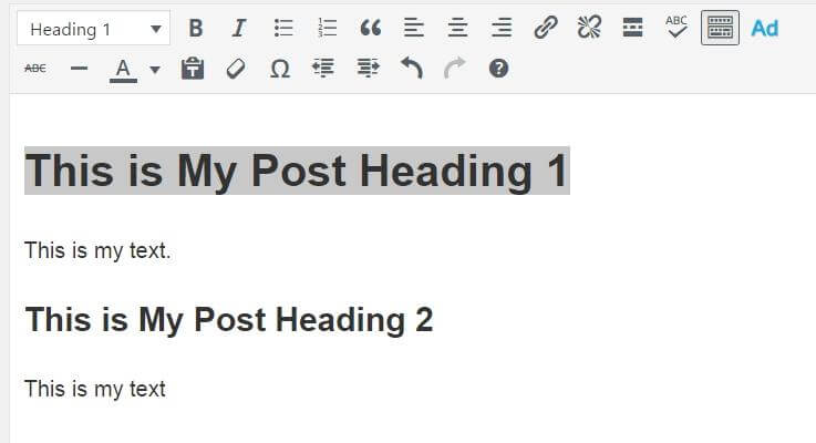 Headings Are Valuable To Post Content For A Number Of Reasons. Firstly,  Separating Your Post By Using Different Heading Formats Makes Your Content  Easier To ...