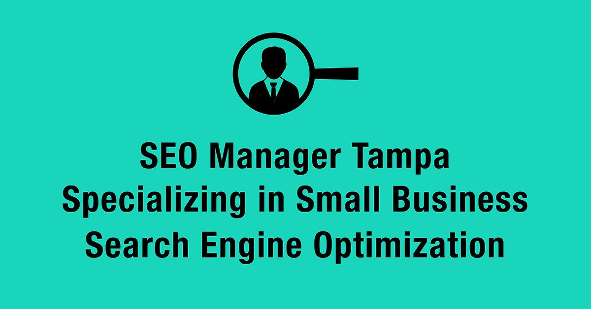 SEO Manager Tampa Specializing in Small Business Search Engine Optimization