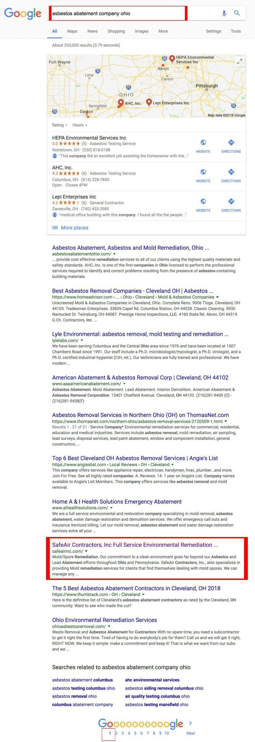 Google rank asbestos