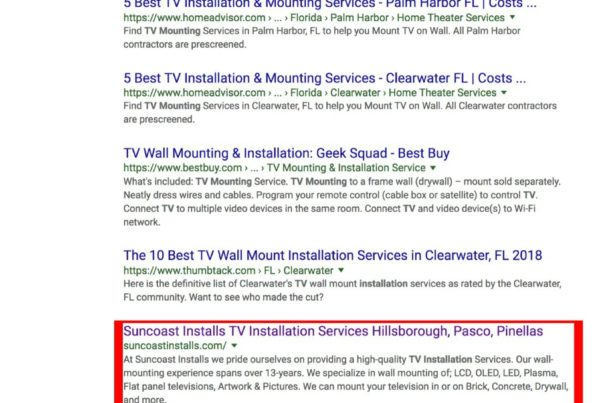 Google rank tv installation