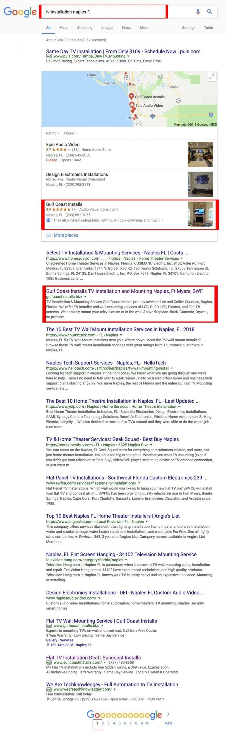 Google rank tv installation
