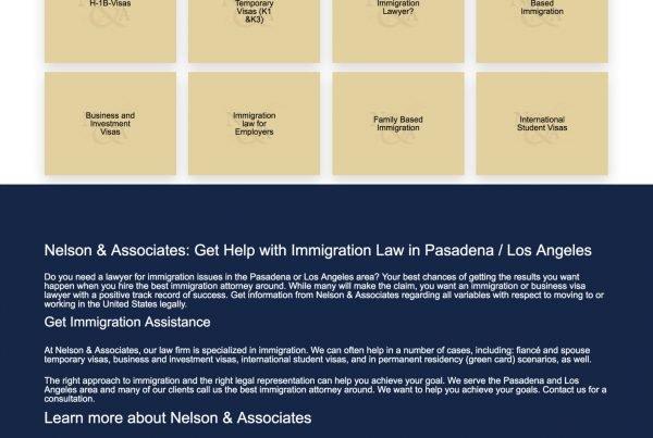 Web Design Neslon Immigration Law